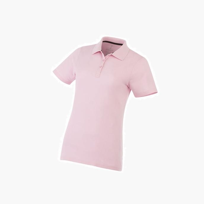 988d407d8446c1a Рубашка поло «Primus» женская, светло-розовый оптом. Нанесение логотипа