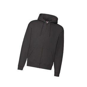 толстовка premium hooded sweat jacket 260 черный 2XL