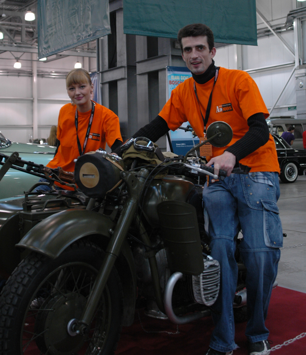 Admos на мотоцикле