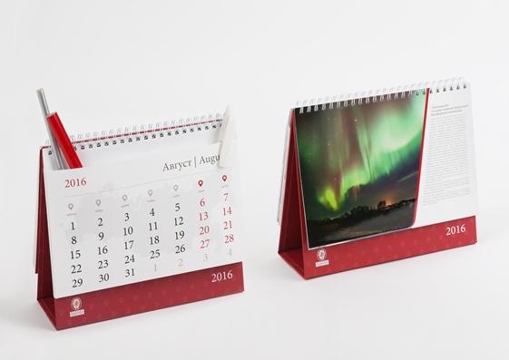 Настольный календарь с конвертами