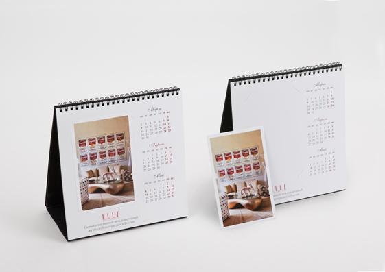 Настольный календарь с открытками