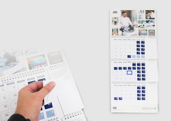 Настольный календарь с блоком для записей